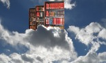 composite of two images, cloud by Krish Dulal, shelves by Nick Moreau, composite by the Luddbrarian.