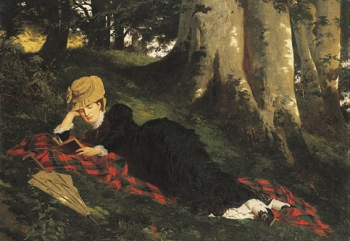 796px-Benczúr,_Gyula_-_Woman_Reading_in_a_Forest_-_Google_Art_Project